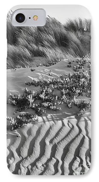 Morro Beach Textures Bw IPhone Case by Terry Garvin
