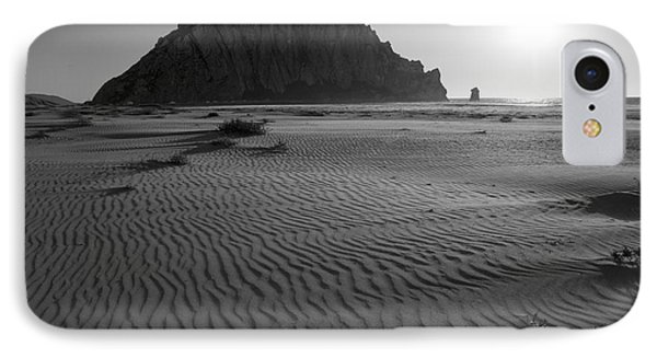 Morro Rock Silhouette Phone Case by Terry Garvin
