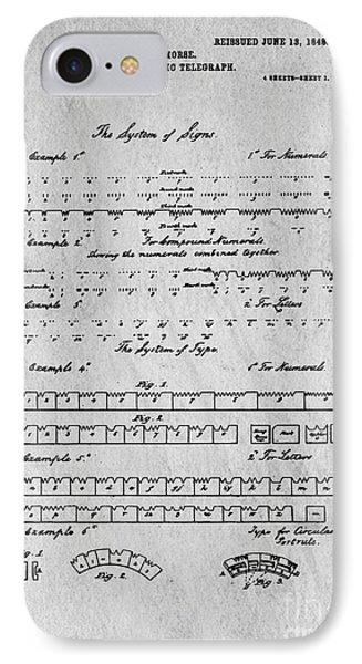 Morse Code Original Patent IPhone Case