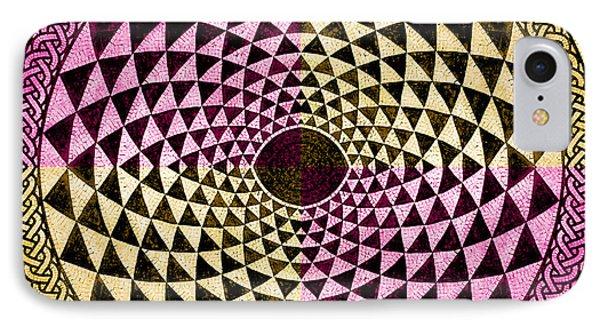 Mosaic Circle Symmetric  Phone Case by Tony Rubino