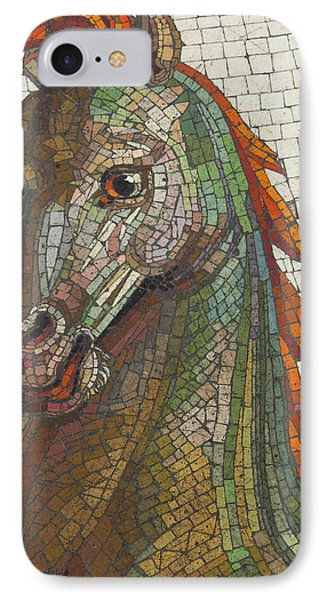 IPhone Case featuring the photograph Mosaic Horse by Marcia Socolik