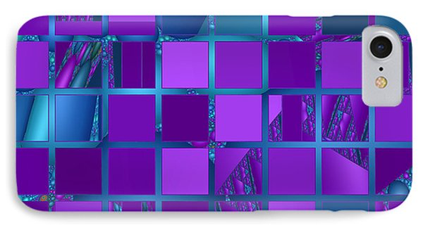 Mosaic In Purple And Teal Phone Case by Judi Suni Hall