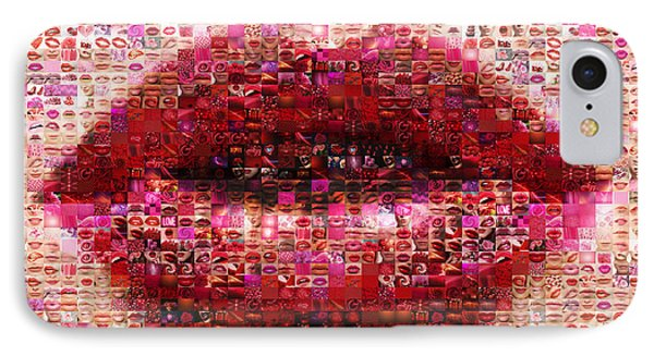 Mosaic Lips IPhone Case by Gina Dsgn