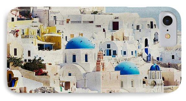 Mosaic - Santorini IPhone Case by Lisa Parrish