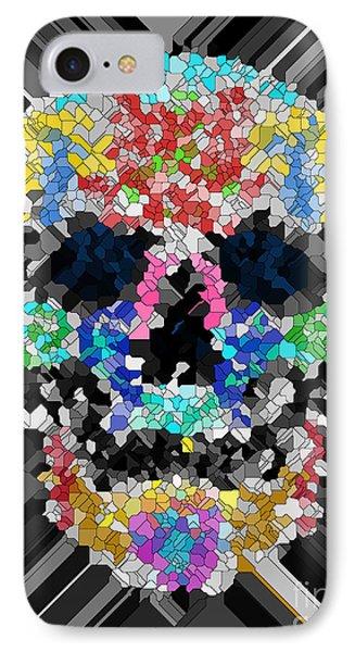 Mosaic Skull IPhone Case by Mauro Celotti