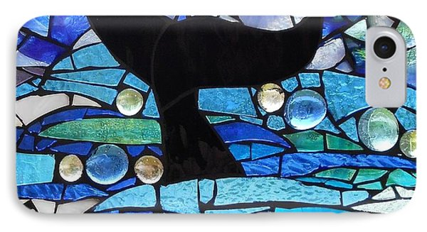 Mosaic Stained Glass - Whale Tail Phone Case by Catherine Van Der Woerd