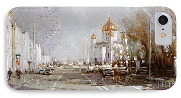 Moscow. Cathedral Of Christ The Savior IPhone Case