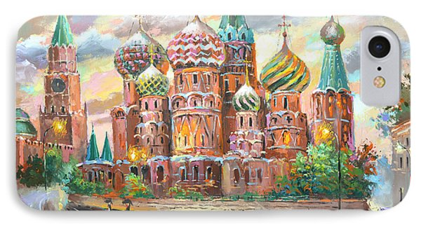 IPhone Case featuring the painting Moscow by Dmitry Spiros