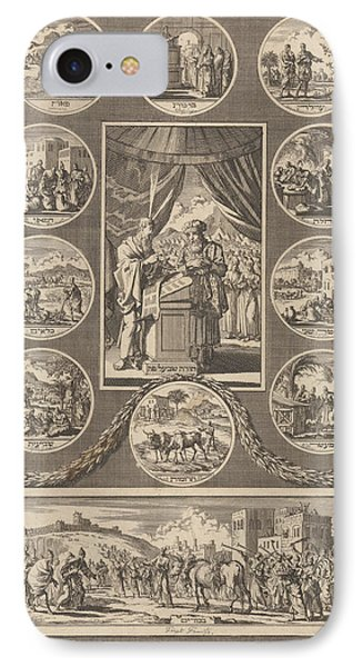 Moses And Aaron And The Tables Of The Law IPhone Case by Quint Lox