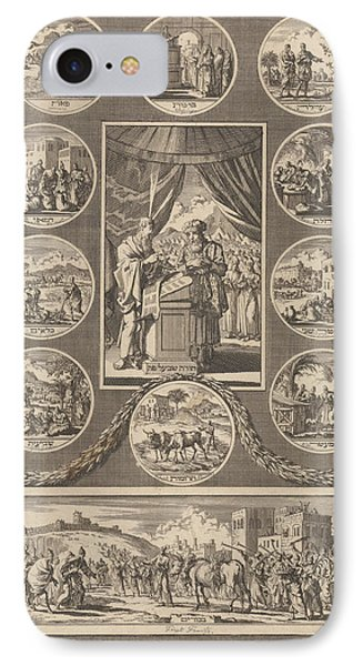 Moses And Aaron With The Tablets Of The Law IPhone Case by Jan Luyken And Gerardus Borstius (i) And Jacobus Borstius