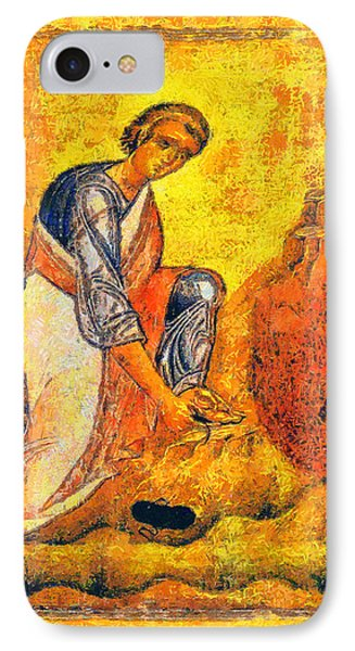 Moses And The Burning Bush Phone Case by George Rossidis