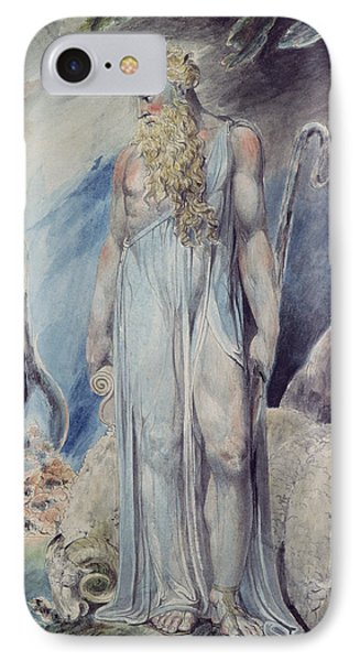 Moses And The Burning Bush IPhone Case by William Blake
