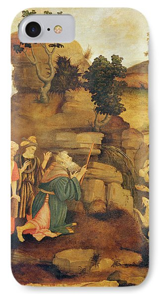 Moses Brings Forth Water Out Of The Rock, C.1500 Detail IPhone Case by Filippo Lippi