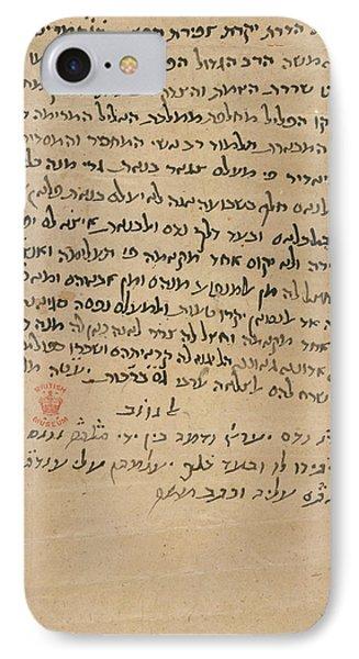 Moses Maimonides IPhone Case