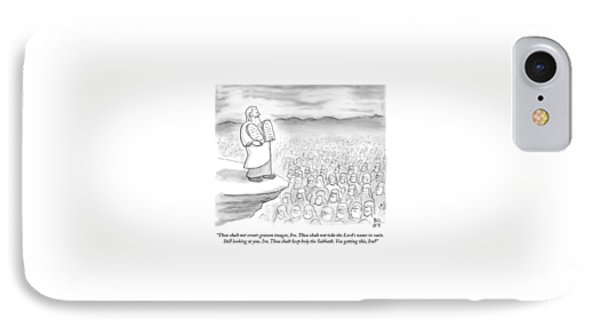 Moses Recites The Ten Commandments To An Audience IPhone Case