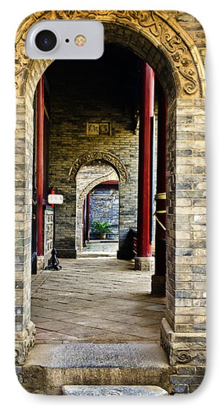 IPhone Case featuring the photograph Moslem Door Xi'an China by Sally Ross