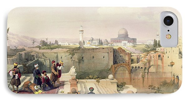 Mosque Of Omar Showing The Site Of The Temple, Plate 8 From Volume I Of The Holy Land  IPhone Case by David Roberts