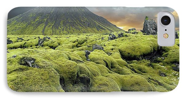 Moss-covered Lava Field IPhone Case