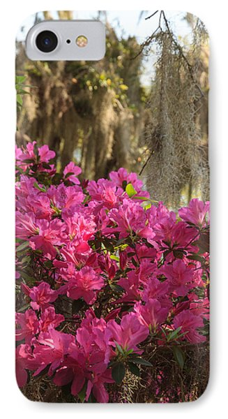 IPhone Case featuring the photograph Moss Over Azaleas by Patricia Schaefer