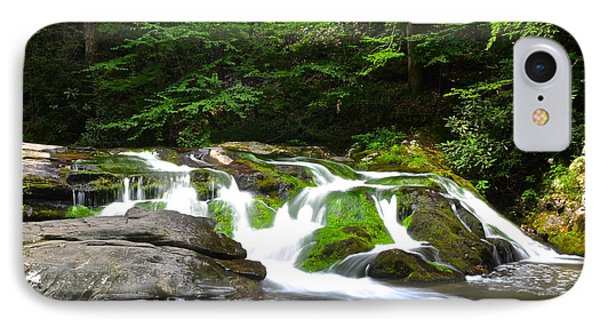 Mossy Mountain Falls Phone Case by Frozen in Time Fine Art Photography