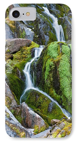 Mossy Waterfall At Snow Lake IPhone Case