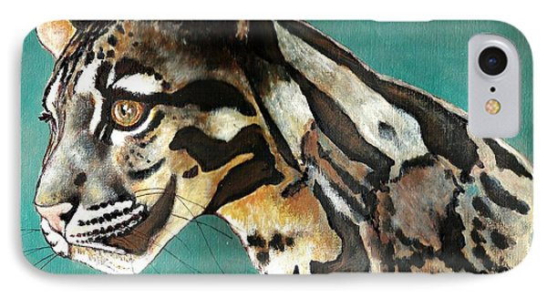 IPhone Case featuring the painting Most Elegant Leopard by VLee Watson