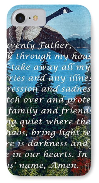 Most Powerful Prayer With Goose Flying And Autumn Scene Phone Case by Barbara Griffin