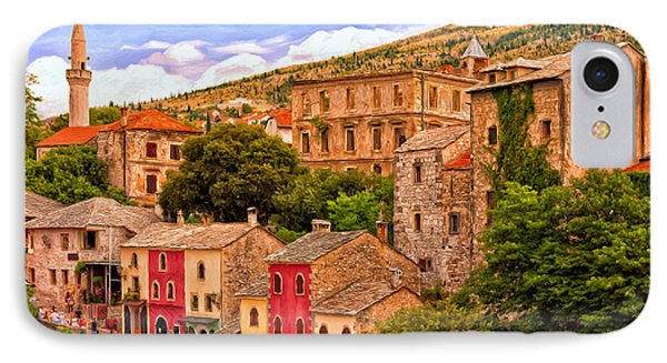 IPhone Case featuring the painting Mostar by Michael Pickett