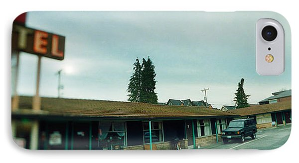 Motel At The Roadside, Aurora Avenue IPhone Case by Panoramic Images