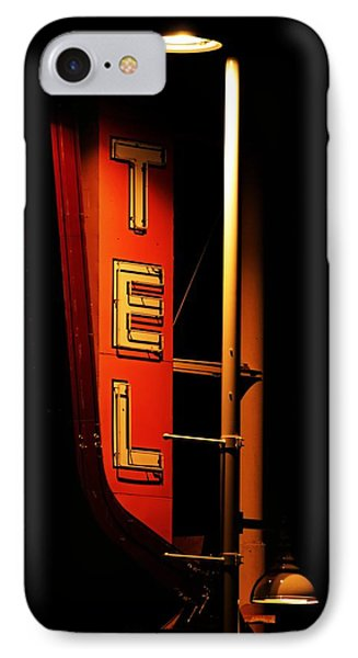 IPhone Case featuring the photograph Motel Sign At Night by Daniel Woodrum