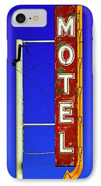 IPhone Case featuring the photograph Motel Sign On Route 66 by Daniel Woodrum