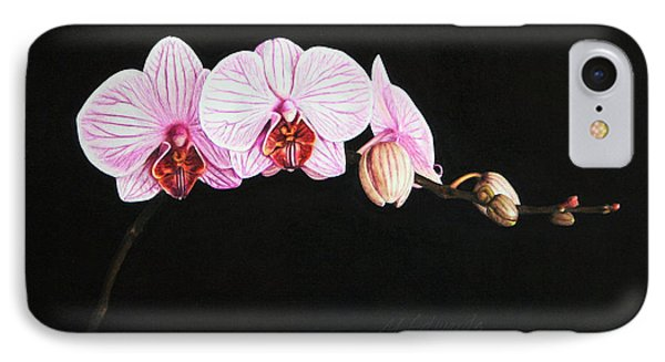 Moth Orchid IPhone Case by Marna Edwards Flavell