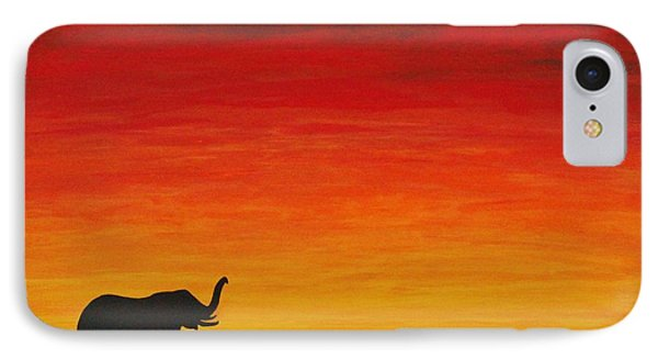 IPhone Case featuring the painting Mother Africa 1 by Michael Cross