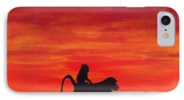 IPhone Case featuring the painting Mother Africa 4 by Michael Cross