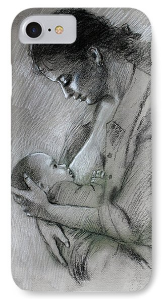 Mother And Baby Phone Case by Viola El
