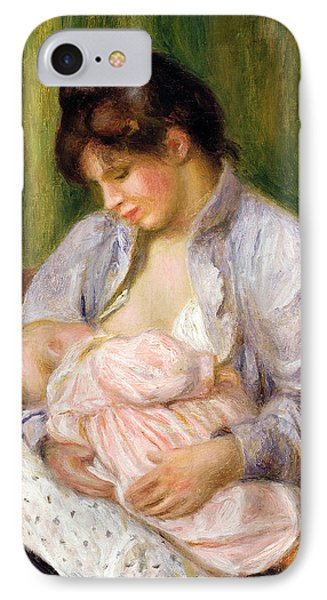 Mother And Child IPhone Case by Pierre Auguste Renoir