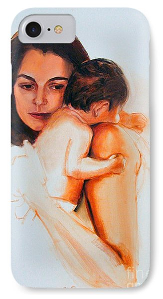 IPhone Case featuring the painting Mother And Child by Greta Corens
