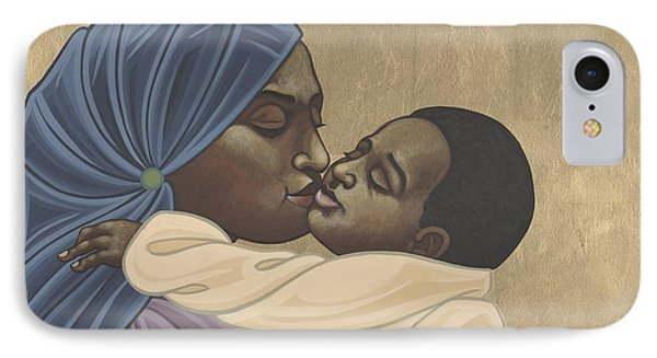 IPhone Case featuring the painting Mother And Child Of Kibeho 131 by William Hart McNichols