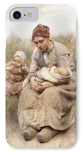 Mother And Child IPhone Case by Robert McGregor