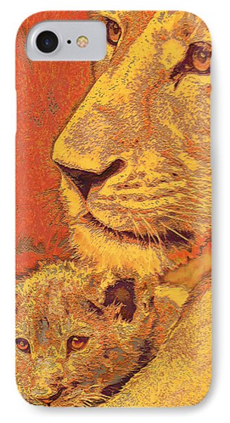 Mother And Cub IPhone 7 Case by Jane Schnetlage