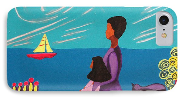 Mother And Daughter IPhone Case by Anita Lewis