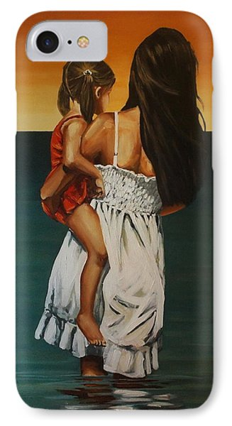 Mother And Daughter II IPhone Case by Natalia Tejera