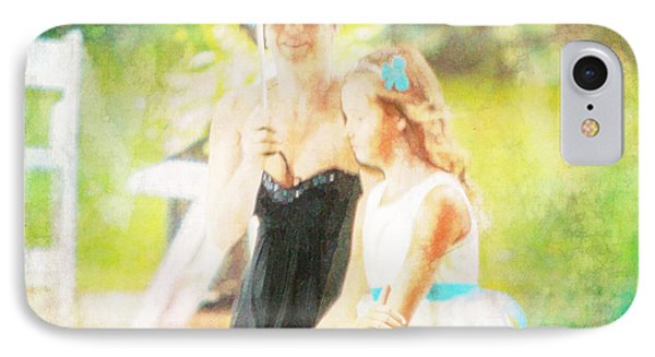Mother And Daughter In The Garden IPhone Case