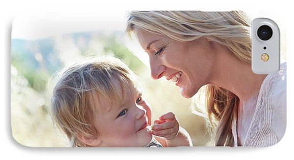 Mother And Daughter Laughing IPhone Case