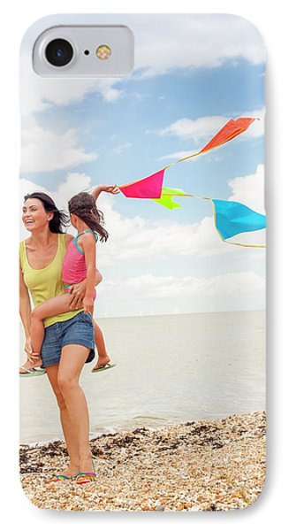 Mother And Daughter On Beach IPhone Case