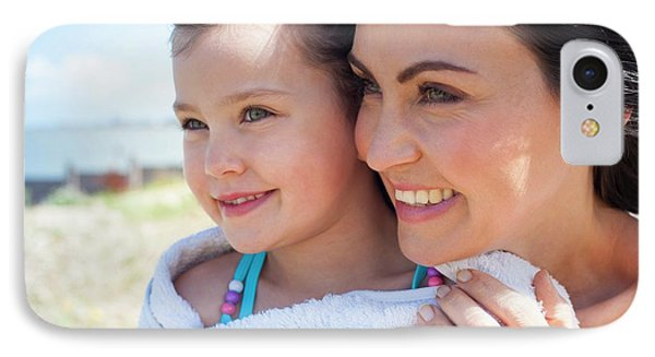 Mother And Daughter Smiling IPhone Case