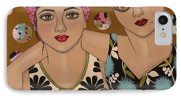 Mother And Daughter IPhone Case by Stephanie Cohen