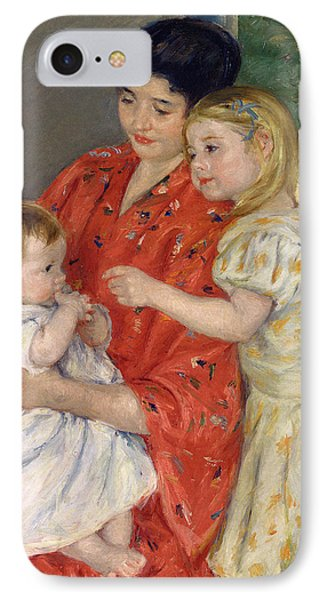 Mother And Sara Admiring The Baby Phone Case by Marry Cassatt