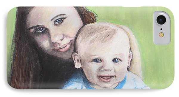 Mother And Son IPhone Case by Jeanne Fischer
