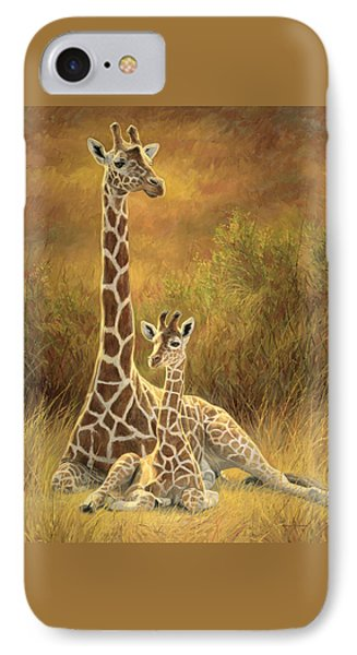 Cow iPhone 7 Case - Mother And Son by Lucie Bilodeau